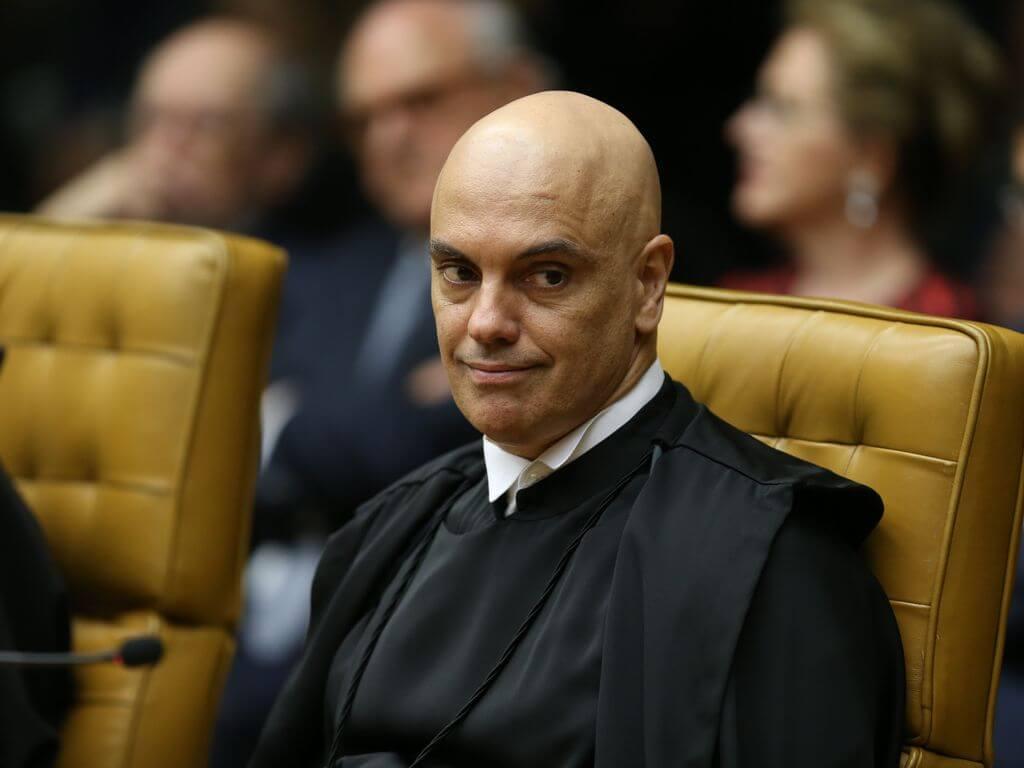 Le ministre du STF, Alexandre de Moraes, lors de l'inauguration du nouveau président de la Cour fédérale suprême (STF), le ministre Dias Toffoli. (Fabio Rodrigues Pozzebom / Agência Brasil)