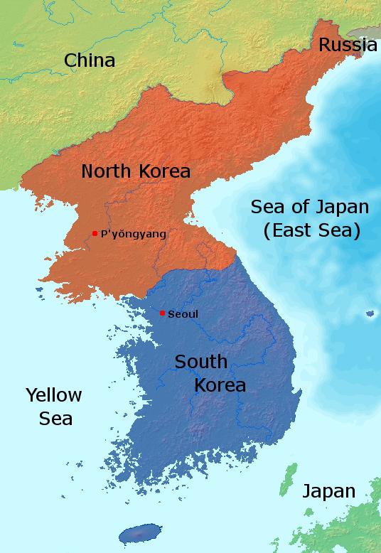 Carte. Contenu Chine et États-Unis.