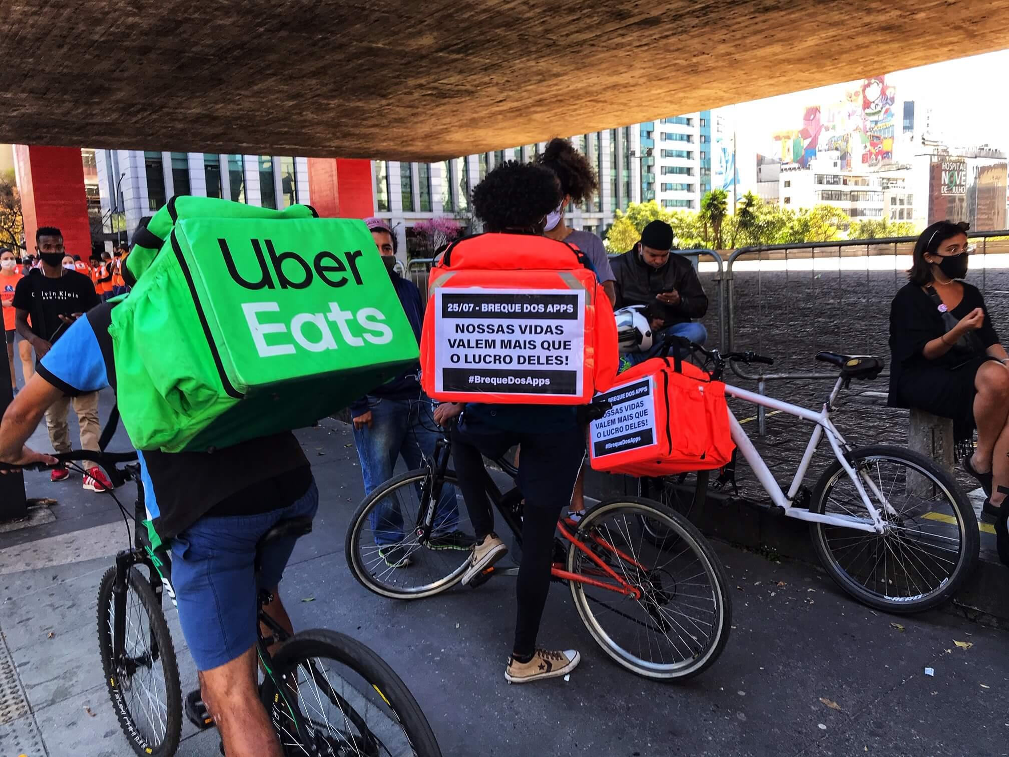 2ème arrêt des APPS - grève des délivreurs d'applications, São Paulo SP (Via: Photos publiques)