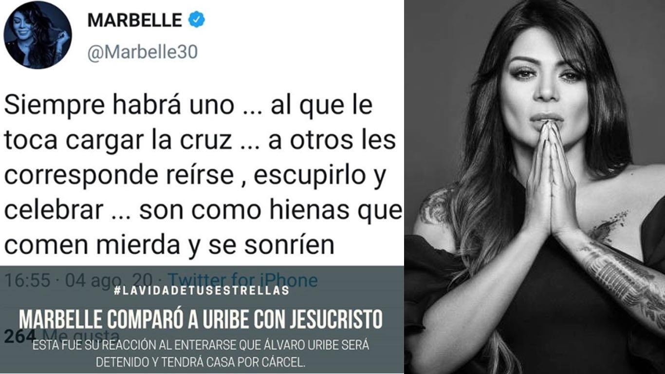 La chanteuse Marbelle rejoint les partisans d'Uribe. Photo: Instagram Celebrity Map / Facebook Officiel Marbelle