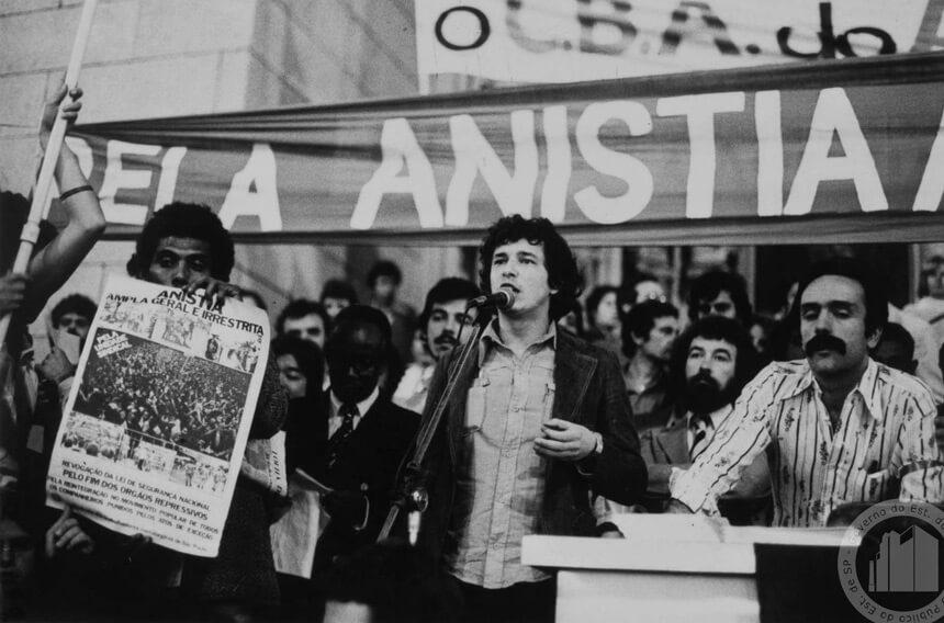 Image historique de l'acte d'amnistie politique