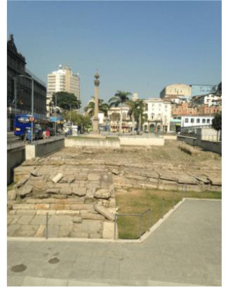 Lieu où se trouvait autrefois le quai de Valongo. Photo: dossier personnel de l'auteur, 2017.