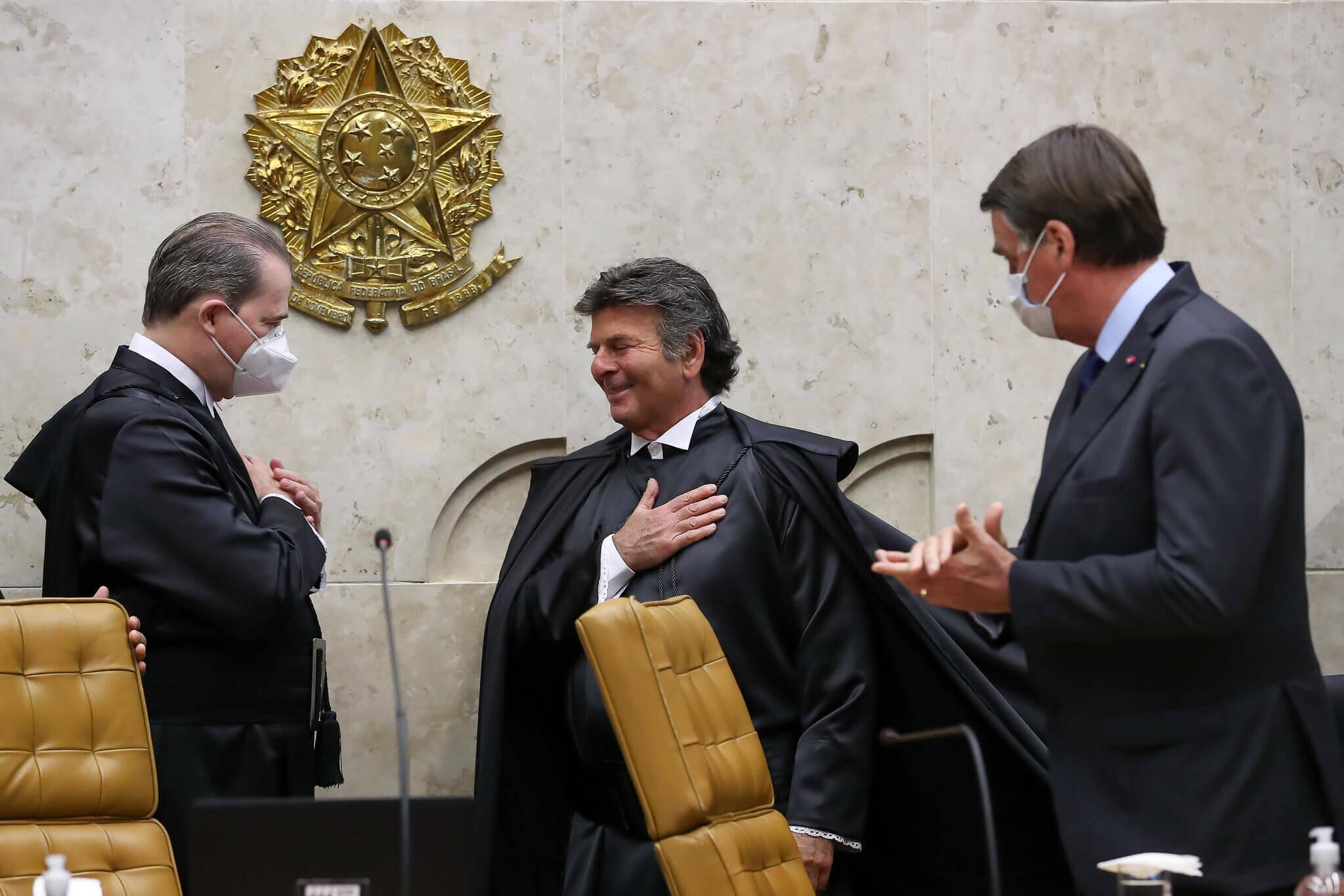 (Brasília - DF, 09/10/2020) Session solennelle d'intronisation des ministres Luiz Fux et Rosa Weber aux fonctions de président et vice-président de la Cour suprême fédérale. Photo: Marcos Corrêa / PR