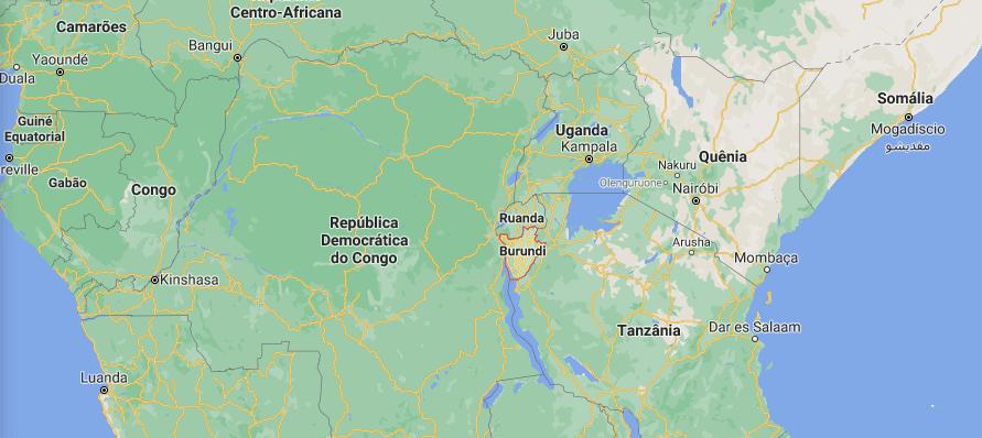 Emplacement du Burundi sur la carte de l'Afrique. (Image: Google Maps)