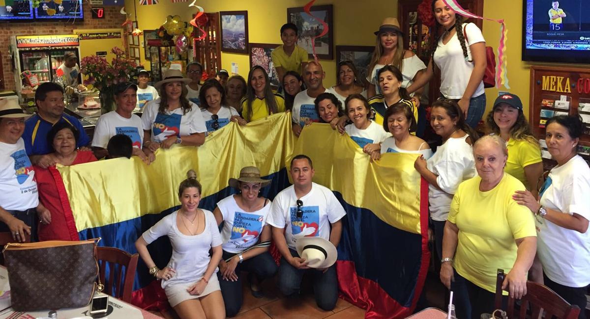 Mekatos est un lieu reconnu à Miami pour réunir une grande partie de la colonie colombienne. Photo: Twitter @CeDemocraticoEx