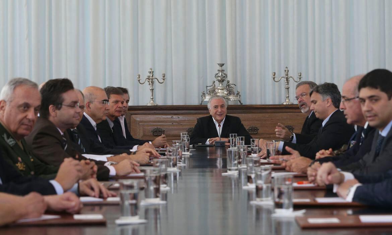 Rencontre du Conseil de la République avec l'ancien président Michel Temer, en 2018. Photo: Agência Brasil.