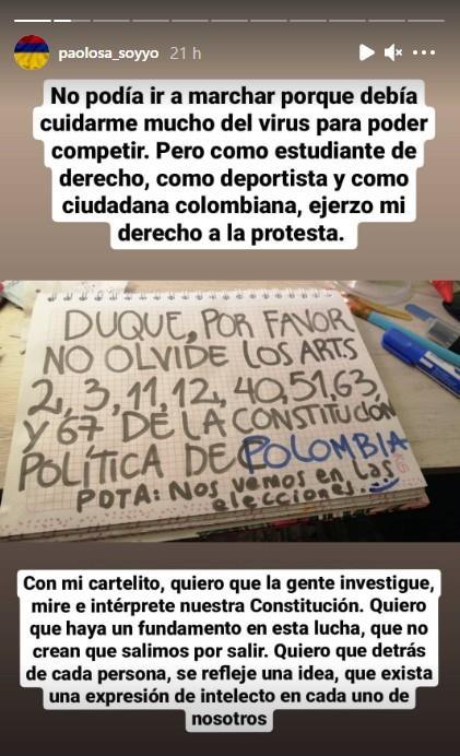 Photo: Instagram Press réseaux Paola Parra.