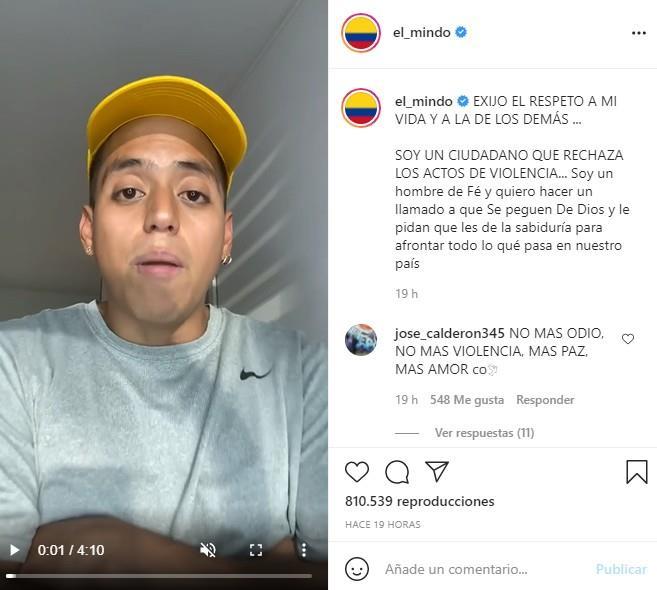 Capture d'écran.  Photo : Instagram
