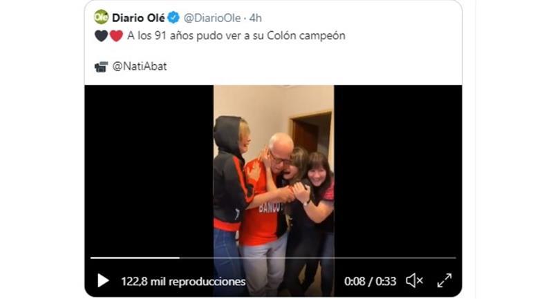Photo : Twitter @DiarioOle