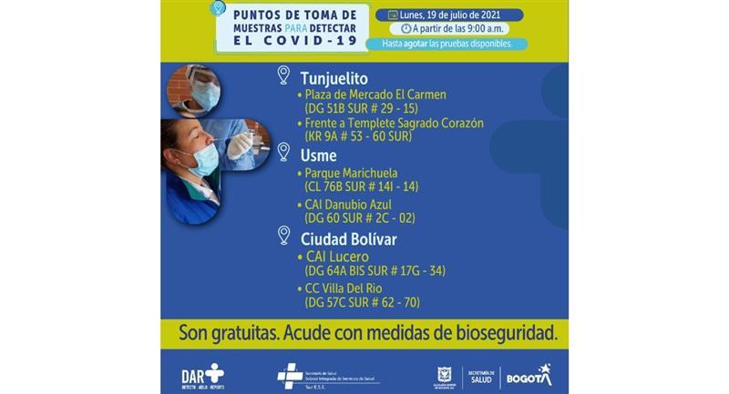 Apprenez à connaître les bureaux les plus proches de votre emplacement.  Photo : Hôtel de ville de Bogota.