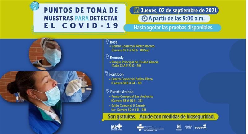 Connaître les points les plus proches de votre position.  Photo : Hôtel de ville de Bogota.