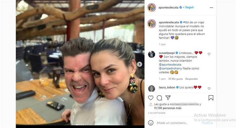 Son père a eu beaucoup d'influence pour officialiser leur relation.  Photo : Instagram