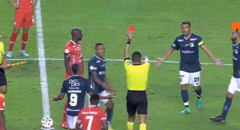 Teófilo Gutiérrez expulsé par Deportivo Cali et Gustavo Torres par América de Cali.  Photo: Gagner + capture d'écran